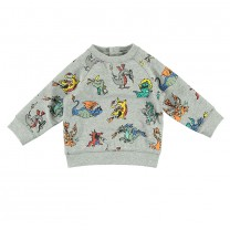 Misty Grey Fire Dragons Sweatshirt