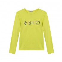 Lime Monster Print Long T-Shirt (2-12 years)