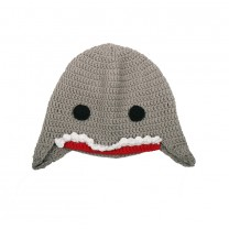 Light Grey Shark Beanie