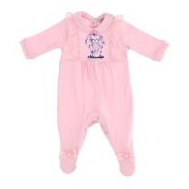 Pink Cat Babysuit