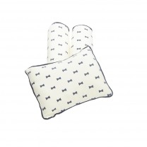 Yellow Ribbon Bow Pillow Bolster Set