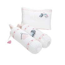 Love Birds Pillow Bolster Set
