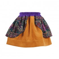 Flower Corduroy Skirt