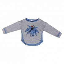 Misty Grey Blue Birdie Sweater