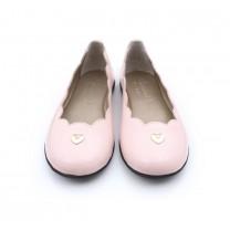 Pink Scallop Ballet Flats