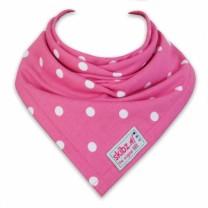 Polka Dot Pink Bib