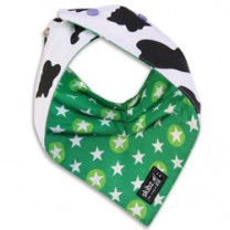 Cowprint and Starbright Reversible Bib