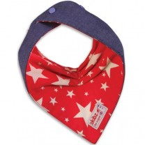 Cowboy Stars and Denim Reversible Bib