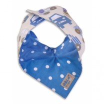 Cars and Blue Spot Reversible Bib