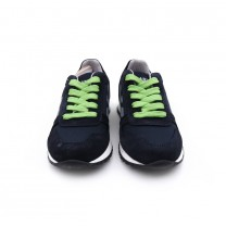 Kids Navy & Green Trainer