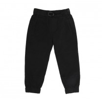 Black Cotton Jogger Pants