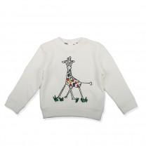 White Giraffe Baby Sweater