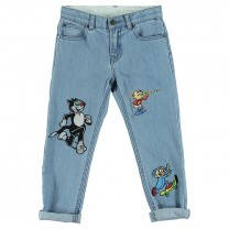 Blue Lohan Patch Jeans