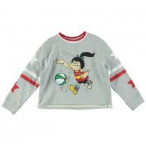 Grey Print Beano Sweater