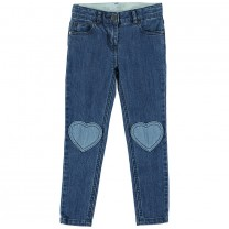 Girls Blue Slim Fit Jeans