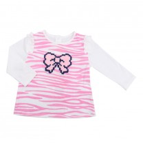 Pink Leopard Ribbon Print Top