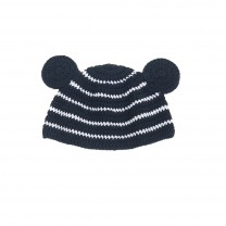 Black and White Bear Knit Beanie