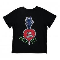 Black Beet It Cotton T-Shirt