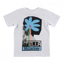 White Graphic Printed Cotton T-Shirt