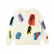 Ivory Letters Cotton-Wool Sweater