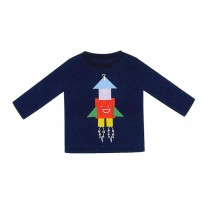 Boys Blue Cotton Rocket Top