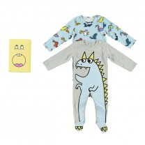 Blue & Grey Babygrows (2 Pack)