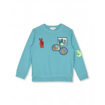 Blue Patches Sweater