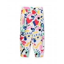 Multicolor Graphic Long Pants
