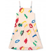 Peach Graphics Dress
