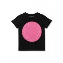 Black Logo Cotton T-Shirt