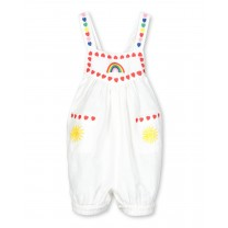 Rainbow Hearts Embroidery Romper