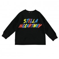 Black Logo Printed Sweater