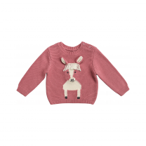 Pink Horse Knitted Sweater