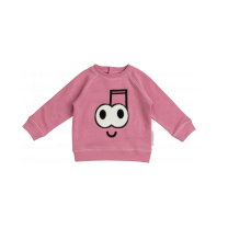 Pink Terry Note Sweater