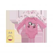 Pink Horse Print Babysuit Set