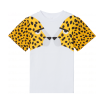 White Cheetah Print T-Shirt
