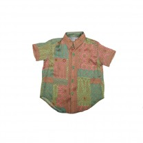 Multi-colored Songket Marion Patchwork Printed Shirt