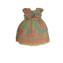 Multi-colored Songket Marion Patchwork Printed Dress
