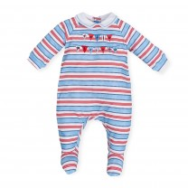 Multicolored Stripes Babysuit