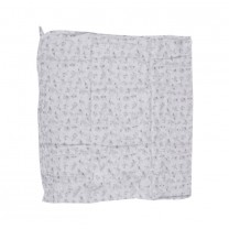 Grey Animal Muslin Wrap