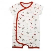 Polar Animal Print Kimono Onesie