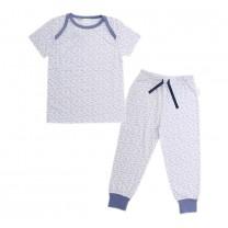 Short Pajama Set Paper Plane Print