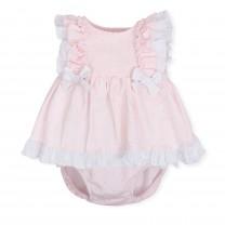 Pink Ruffled Baby Dress