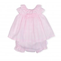 Pink Bow Baby Dress