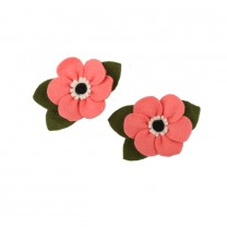 Candy Pink Anemone Piggy Set Clip