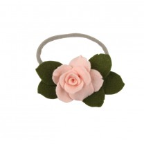 Eucalyptus With Baby Pink Rose Headband