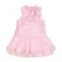 Pink Bow Sleveless Dress