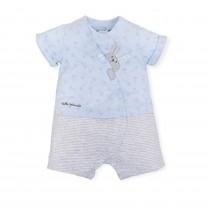 Blue Polkadots Bunny Babygrow