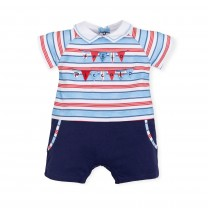 Multicolored Stripes Babygrow