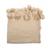 Latte Puff Ball Blanket